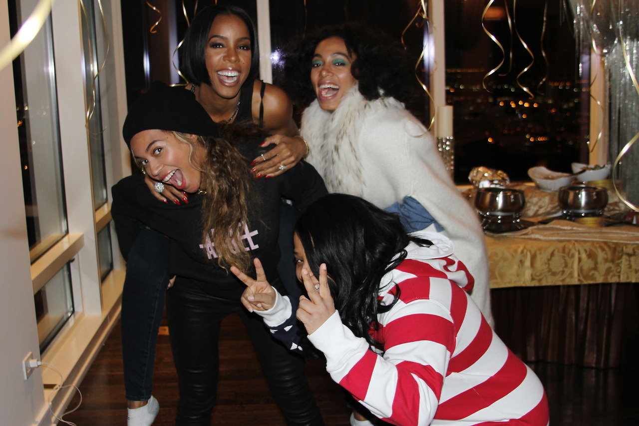 kelly rowland birthday party beyonce solange