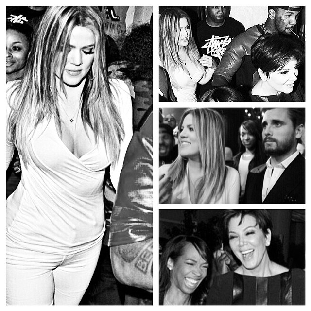 khloe, the game, kris at the club