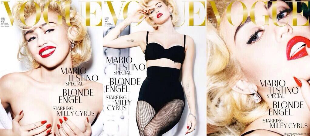 miley for vogue