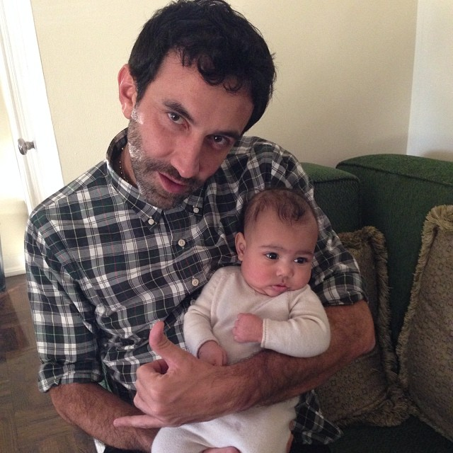 riccardo tisci and baby north