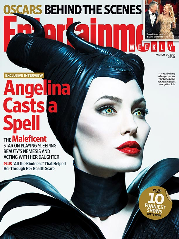 Angelina Jolie covers EW as Maleficent