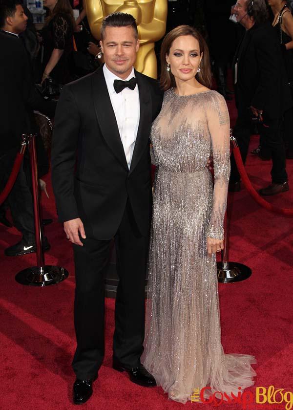 Brad Pitt, Angelina Jolie, 2014 Academy Awards