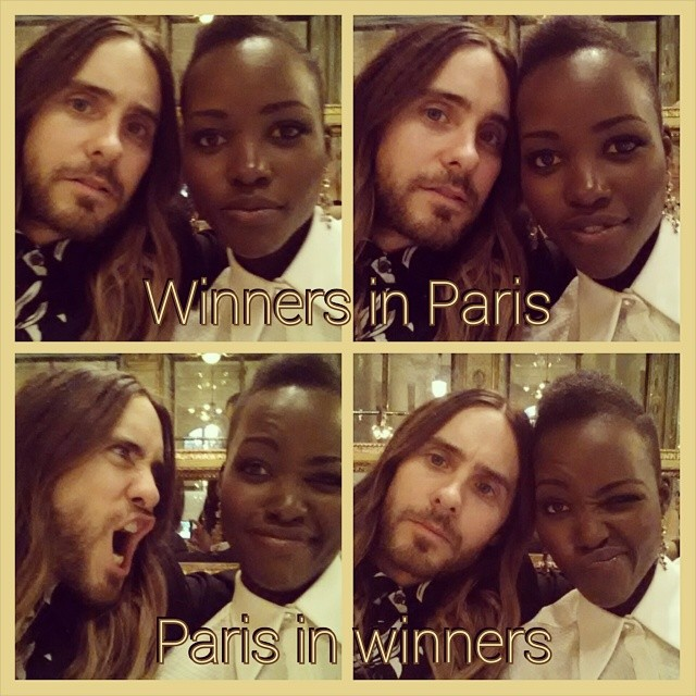 Jared and Lupita Paris Fashion Week