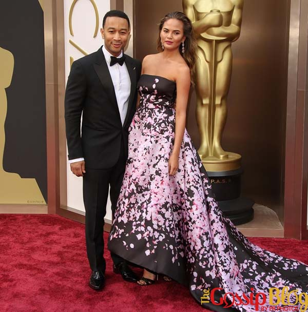 John Legend, Chrissy Teigen, 2014 Academy Awards