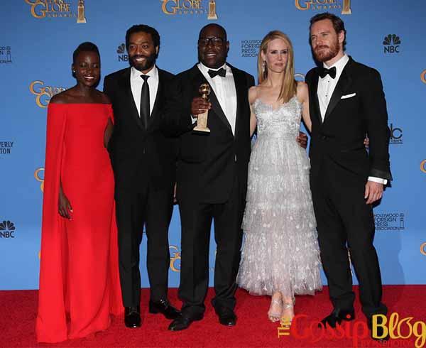 Lupita Nyong'o, Chiwetel Ejiofor, Steve McQueen, Sarah Paulson, and Michael Fassbender