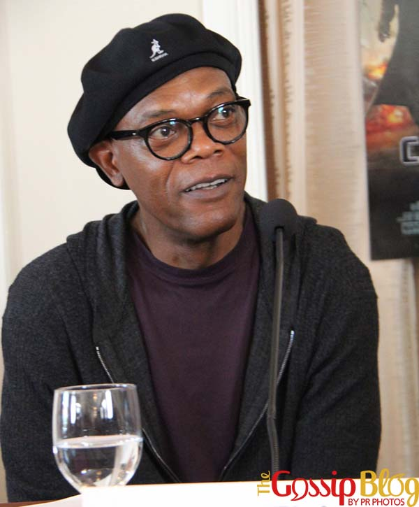 Samuel L Jackson 'Captain America The Winter Soldier' Beverly Hills Press Conference