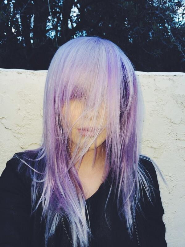 ireland baldwin purple hair color