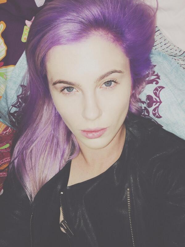 ireland baldwin purple hair photo