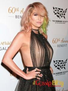 Kesha makes public appearance