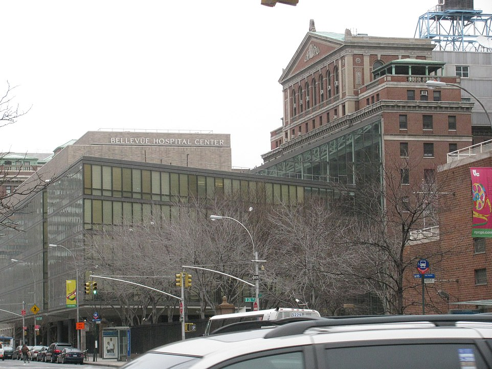 Bellevue Hospital in New York City where suspect of Coronavirus is under treatment