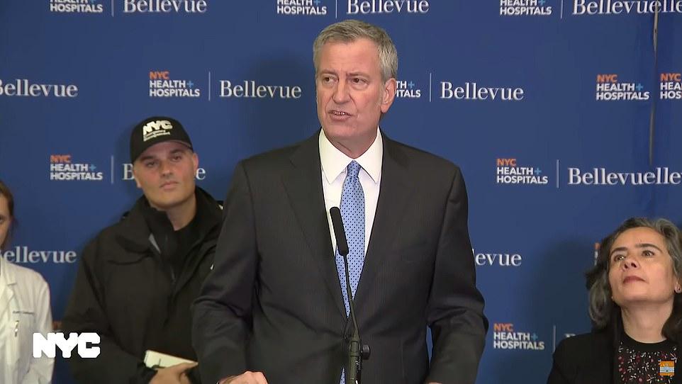 New York Mayor Bill de Blasio confirmed Patient is suffering from symptoms of Coronavirus.