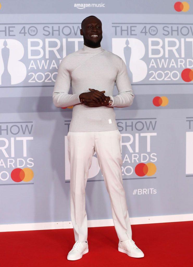 Stormzy look at Brit Awards 2020-thegossipblog
