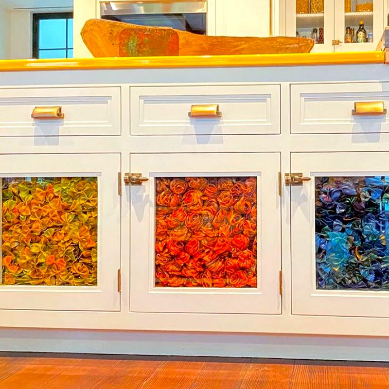 Gigi Hadid's cabinets are organized per color